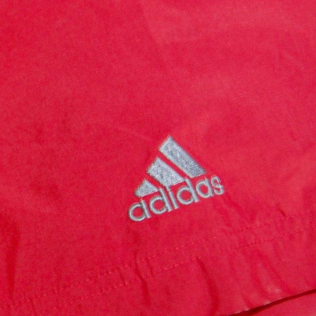 logo Vintage Adidas Red Windbreaker