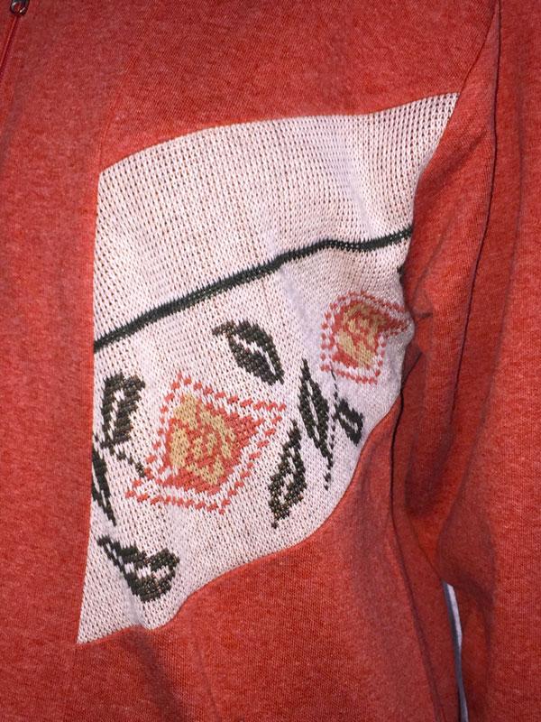 panel of 80s Vintage Knit Jacket