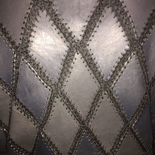 pattern on Black And White Patchwork Jumper