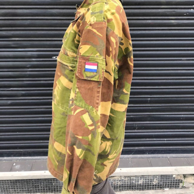side of 1990 Netherlands Camouflage Jacket
