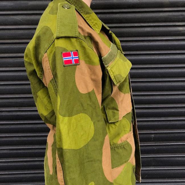 side of Norwegian Woodland Camouflage Jacket
