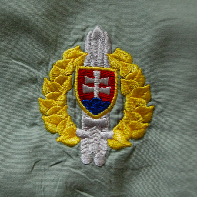 Embroidered logo symbol