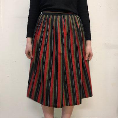 60s Vintage Striped Skirt