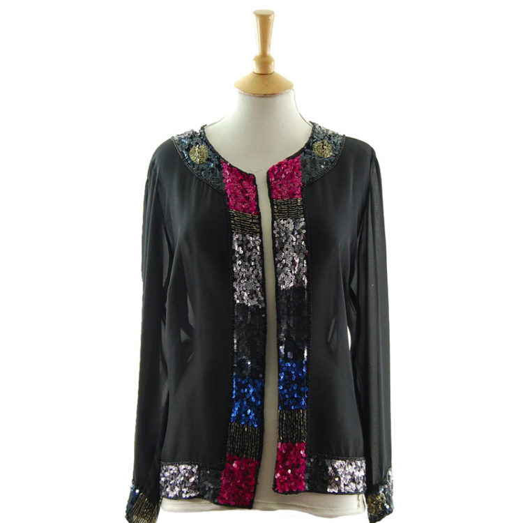 Light Chiffon Sequin Jacket