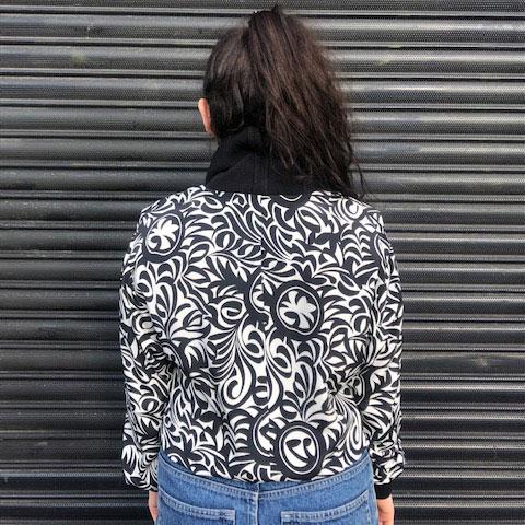 back of Carre Paris Monochrome Top