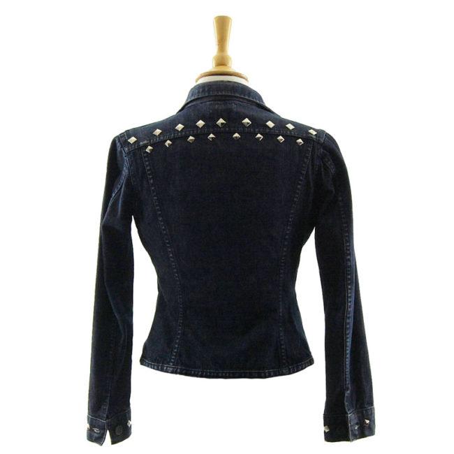 back of Lee Studded Denim Jacket