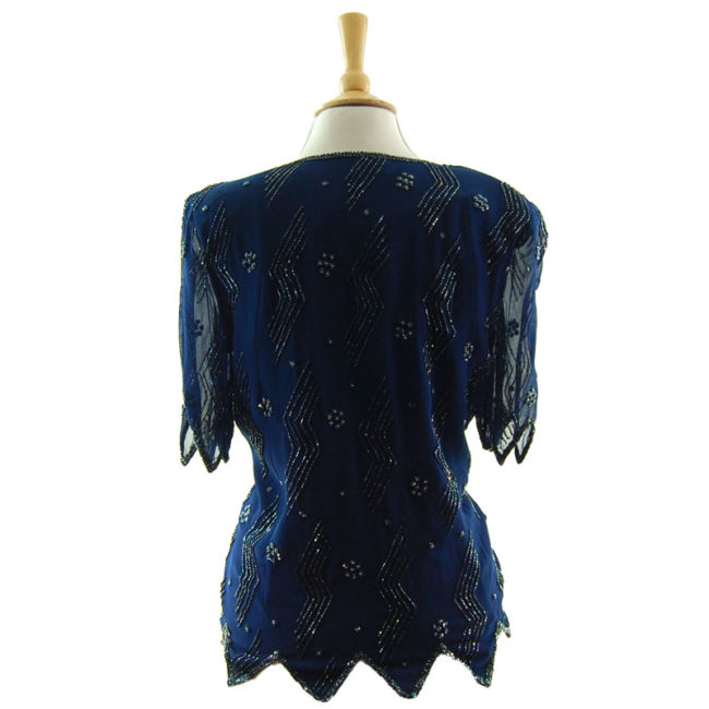 back of Zigzag Bead Pattern Top