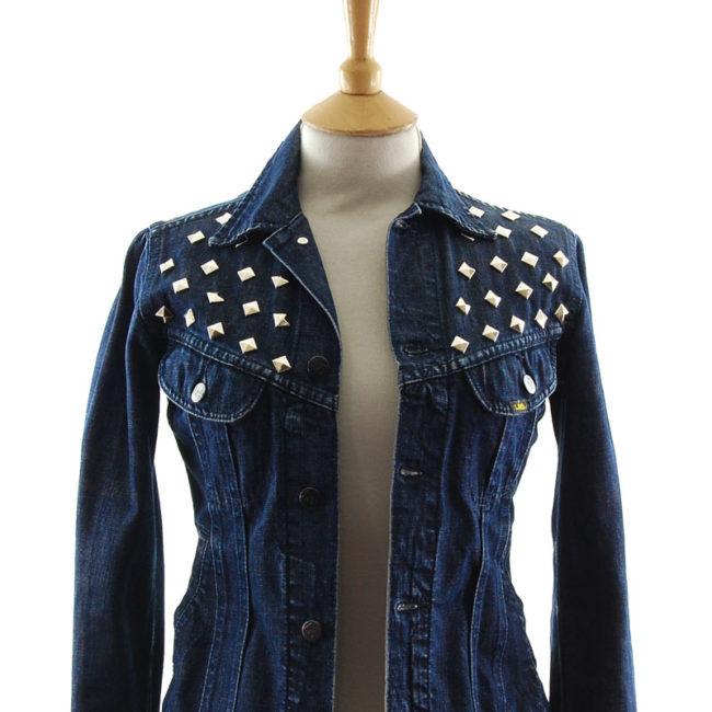 close up of Lee Studded Denim Jacket
