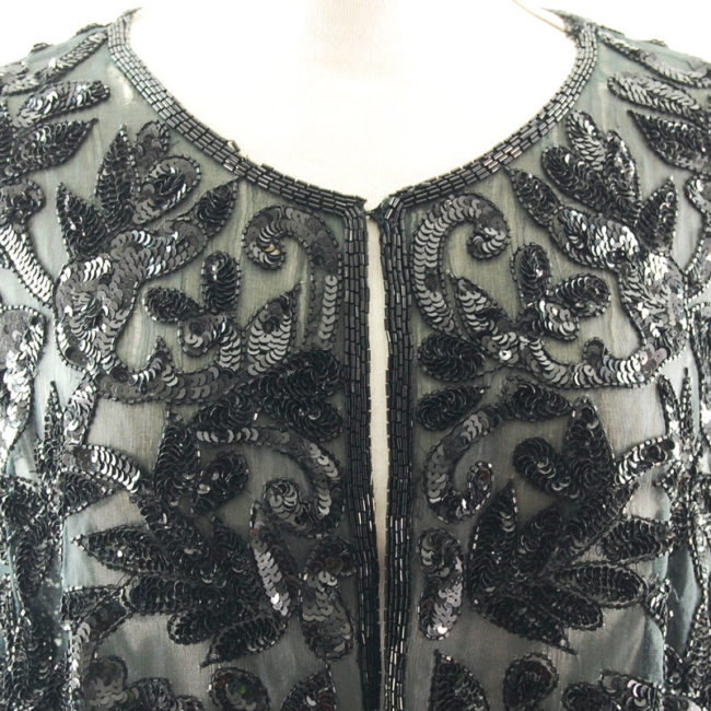 front 90s Black Sequined Cardigan