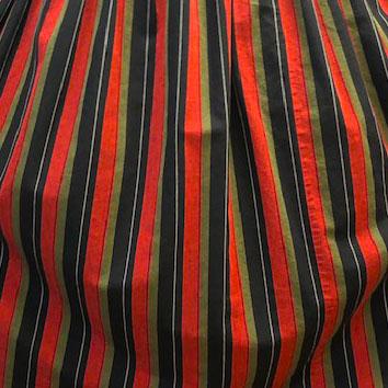 pattern 60s Vintage Striped Skirt