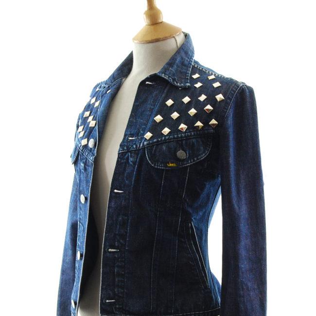 side of Lee Studded Denim Jacket