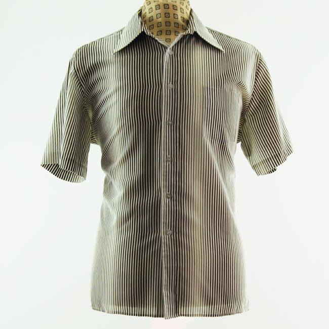 70s Graphic Pinstripe Shirt