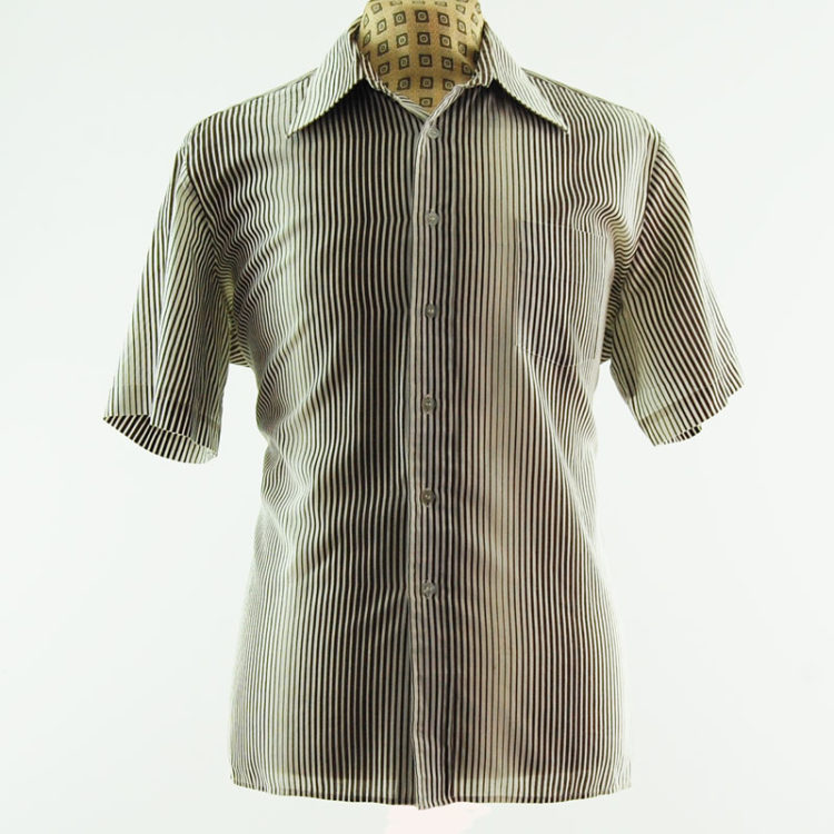 70s Graphic Pinstripe Shirt