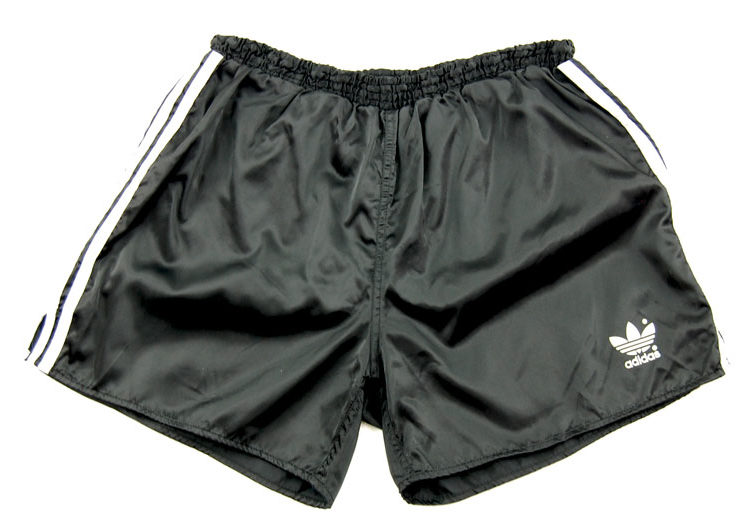 90s Adidas Black Satin Sport Shorts