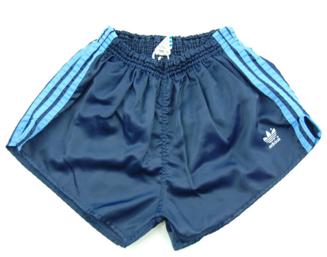 90s Adidas Navy Satin Sport Shorts