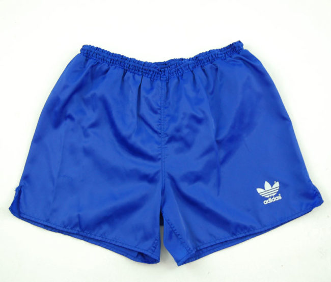 90s Adidas Plain Blue Sport Shorts