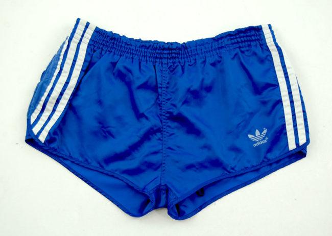 90s Adidas Satin Blue Sport Shorts