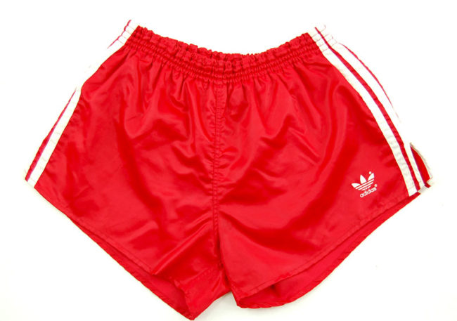 90s Adidas Satin Red Sport Shorts