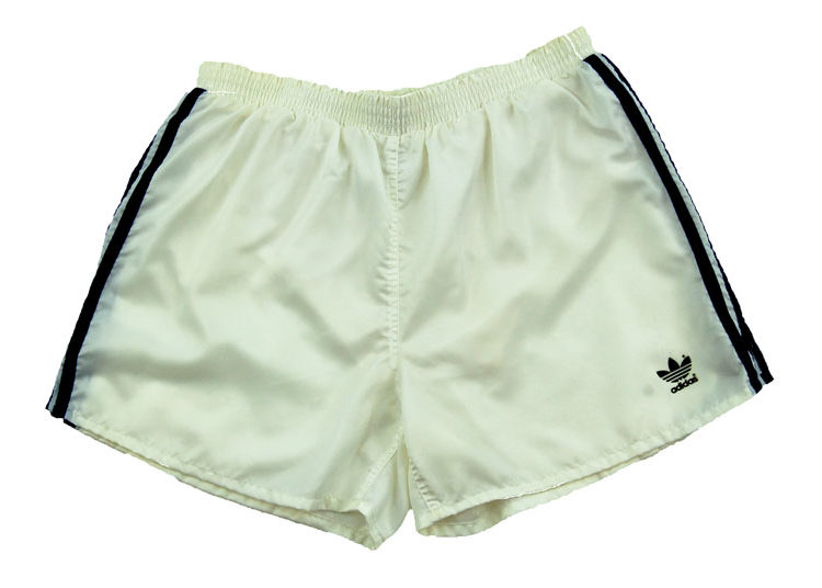 90s Adidas Satin White Sport Shorts