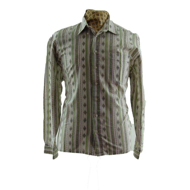 90s Pastel Aztec Print Shirt