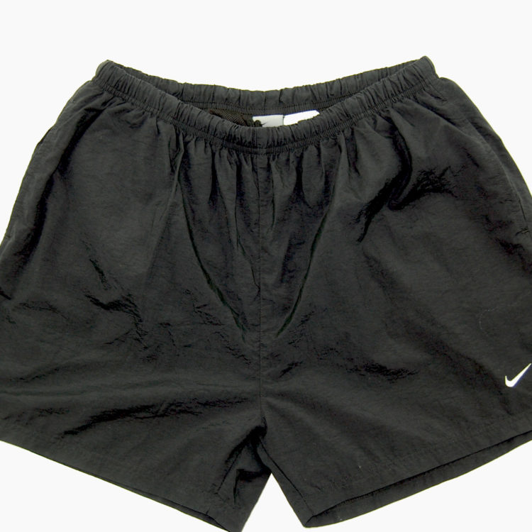 90s Plain Black Nike Sport Shorts