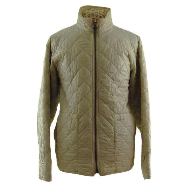 Barbour Cream Quilted Coat