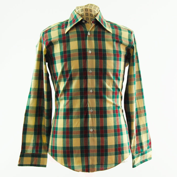 Colourful Plaid 70s Shirt