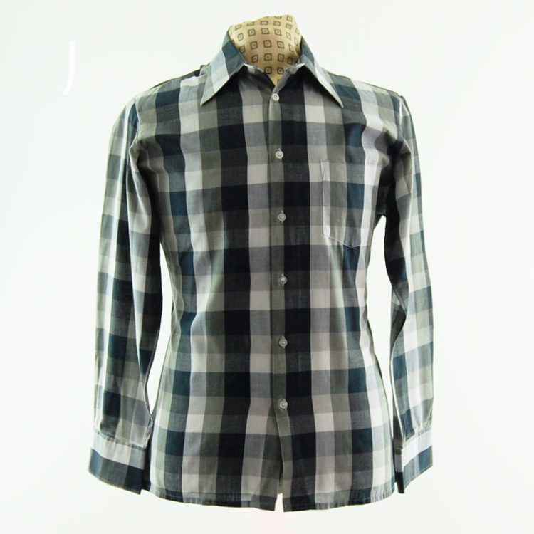 Monochrome Plaid 70s Shirt