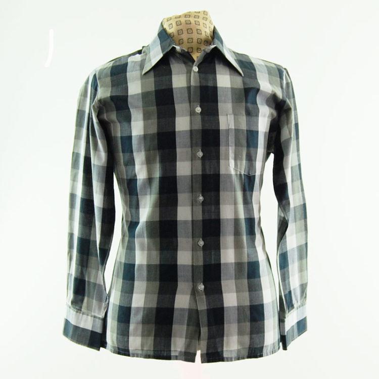 Monochrome Plaid 70s Shirt