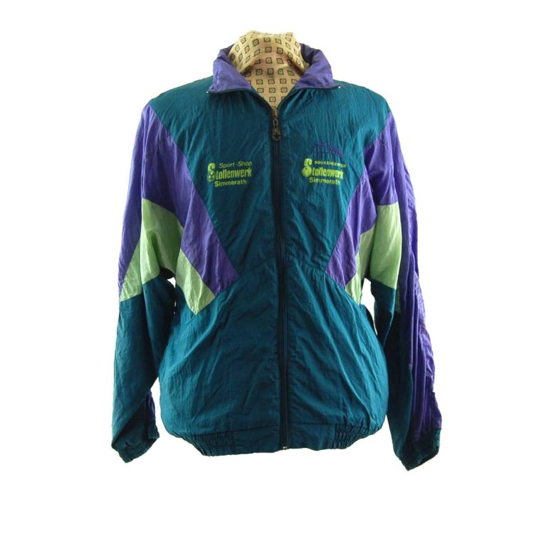 Vintage Forest Green Windbreaker Jacket