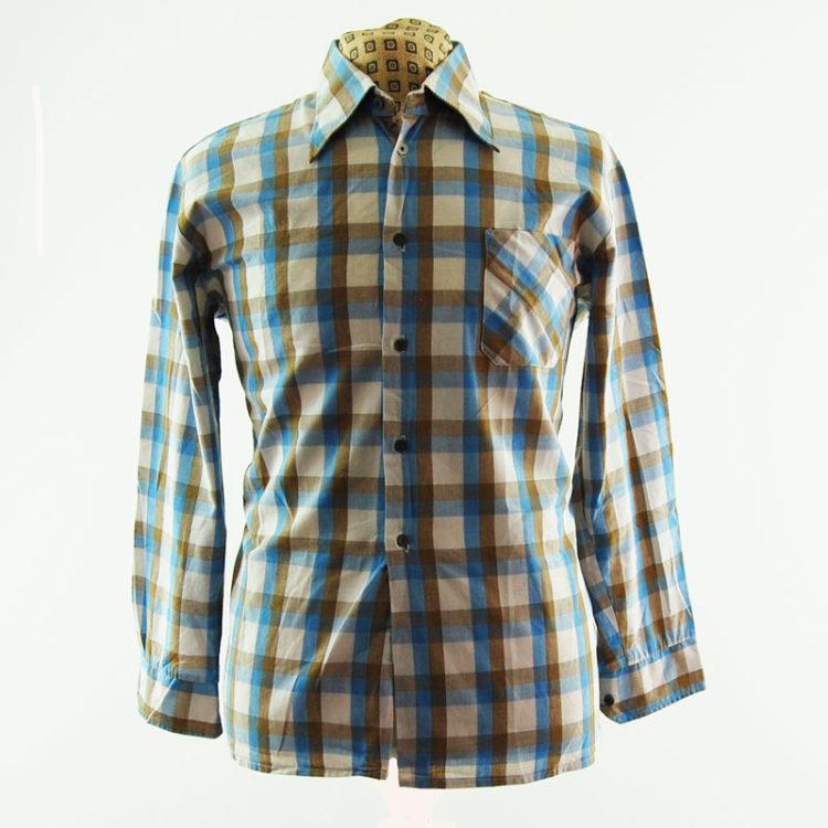 Vintage Pastel Plaid 70s Shirt