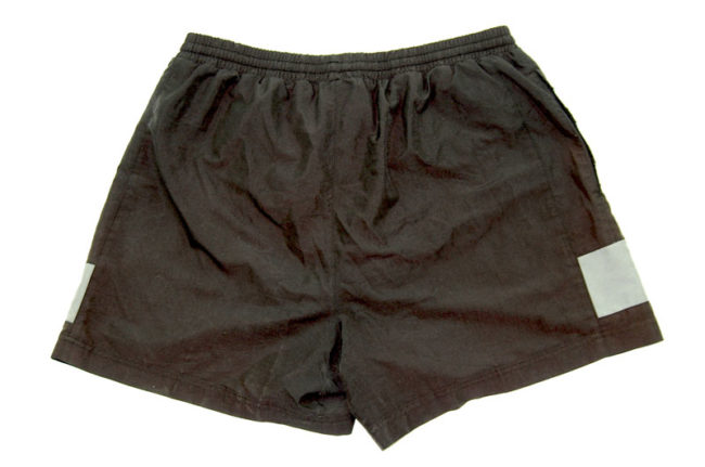 back of 00s Adidas Sport Shorts