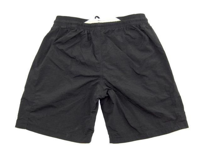 back of 90s Adidas Black Sport Shorts