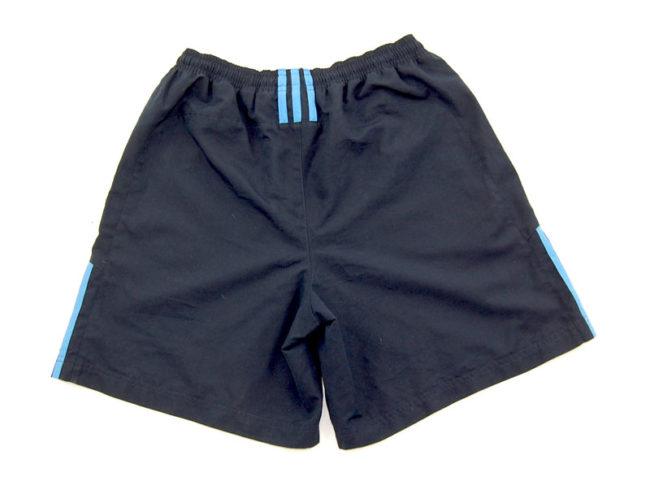 back of 90s Adidas Navy Sport Shorts