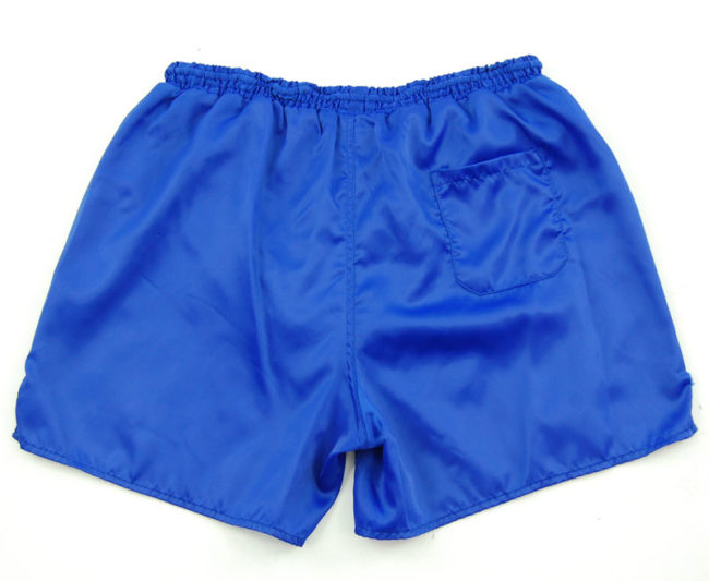 back of 90s Adidas Plain Blue Sport Shorts