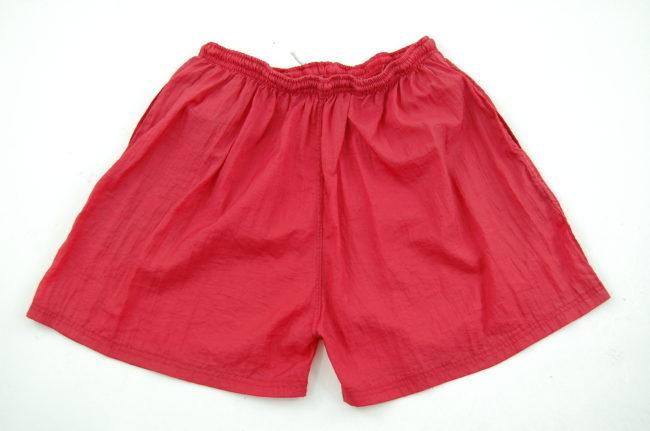 back of 90s Burgundy Nike Sport Shorts