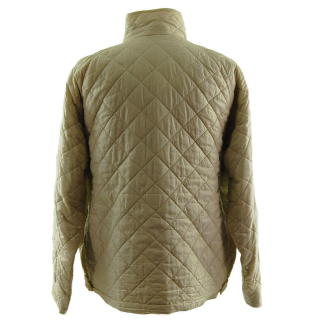 back of Barbour Cream Quilted Coat