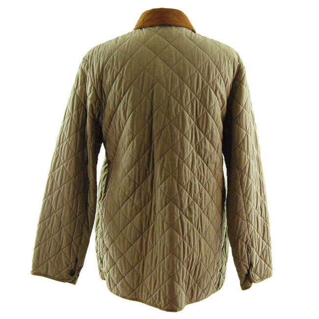 back of Barbour Milano Fine Cotton Quilted Coat
