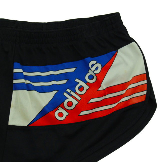 close up of 90s Adidas Running Sport Shorts