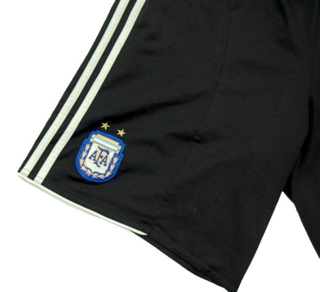 close up of 90s Adidas AFA Football Shorts