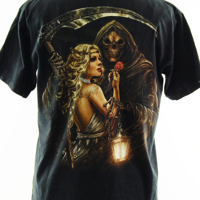 close up of 90s Metal Rock T Shirt