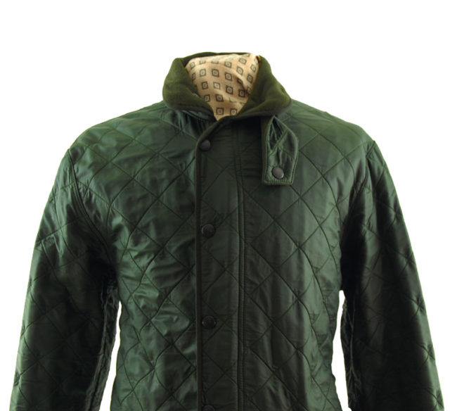 close up of Barbour Polarquilt Lined Coat