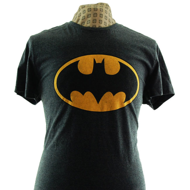 close up of Batman Logo T Shirt
