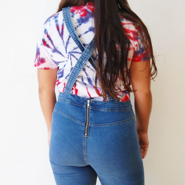 close up of Cotton Skinny Jean Dungarees