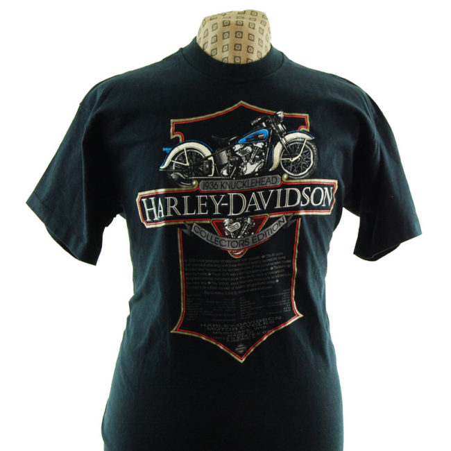 close up of Harley Davidson Motor Clothes T Shirt