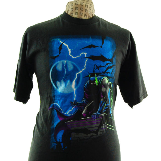 close up of Oversized Batman T Shirt