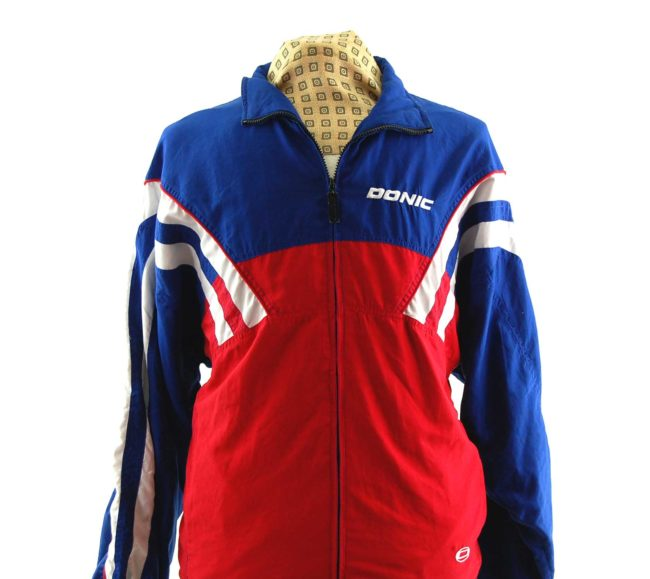 close up of Vintage Donic Windbreaker Jacket