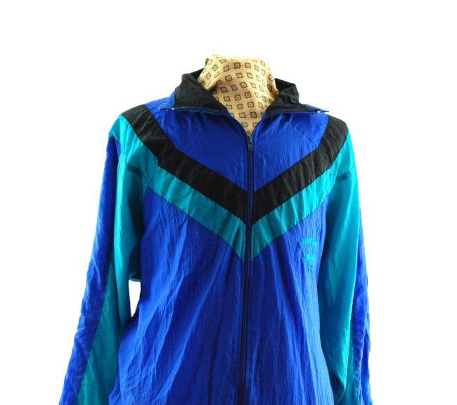 close up of Vintage Sporting Windbreaker Jacket