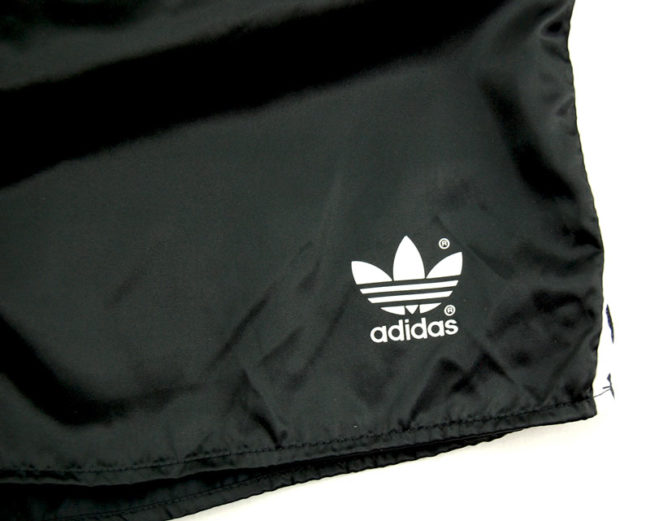 label 90s Adidas Black Satin Sport Shorts
