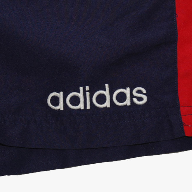 label 90s Adidas Red And Blue Sport Shorts